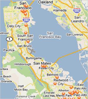 Worksheet. Map Of San Francisco Peninsula  Michigan Map